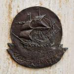 Civitavecchia, Italy - Plaque on Denkmal Samurai