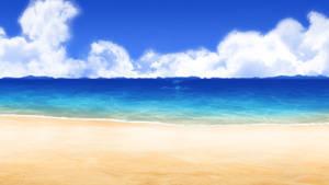 [background] Anime-styled beach type 10