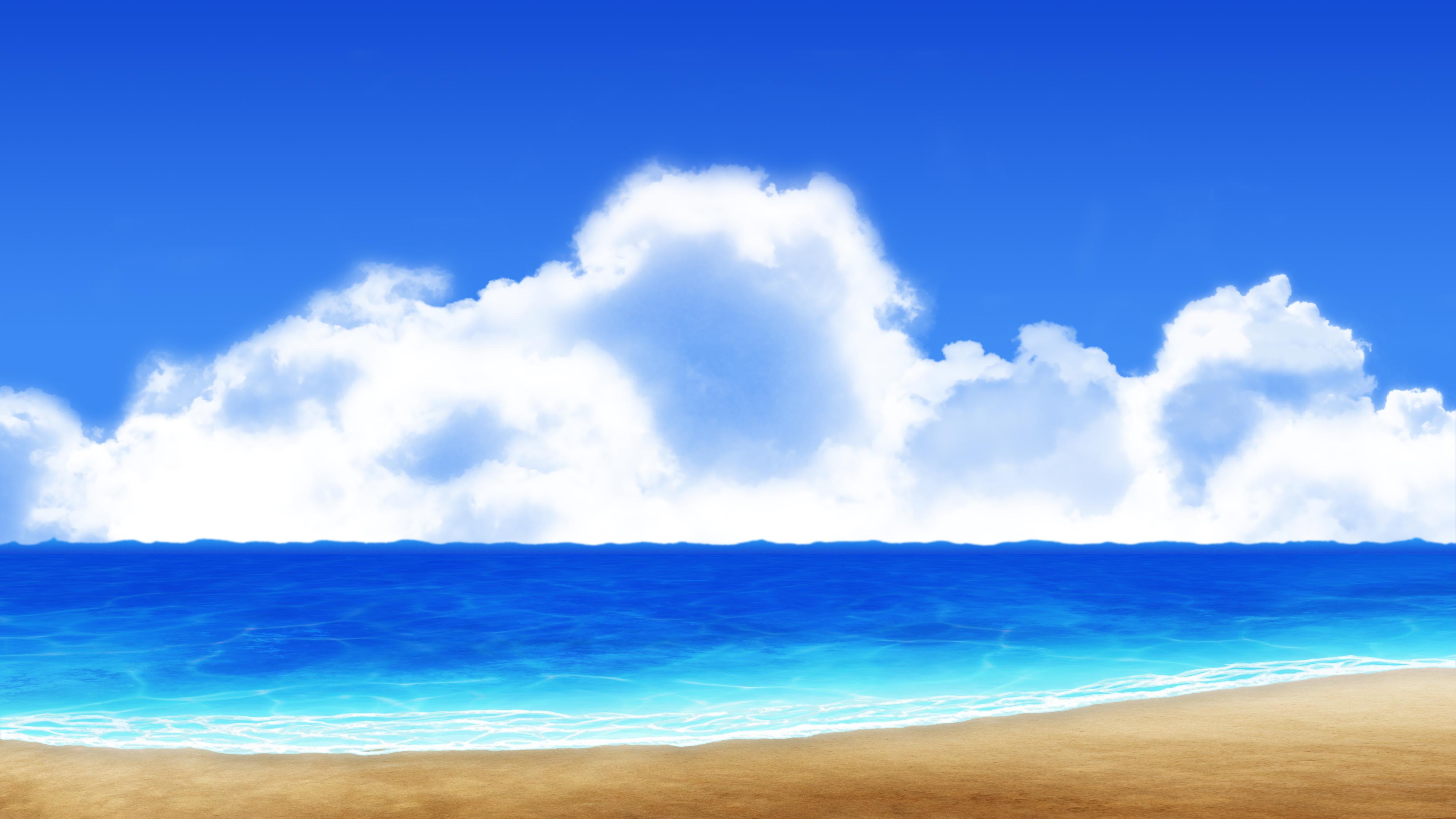 background animestyled beach type 11 by akiranyo on