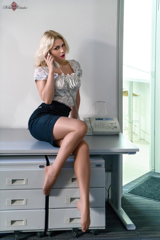 Japanese girl at work in mini skirt 2