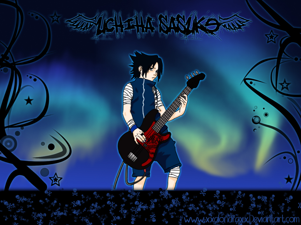Sasuke Uchiha a Rock Star by XxAlOnDrAxX
