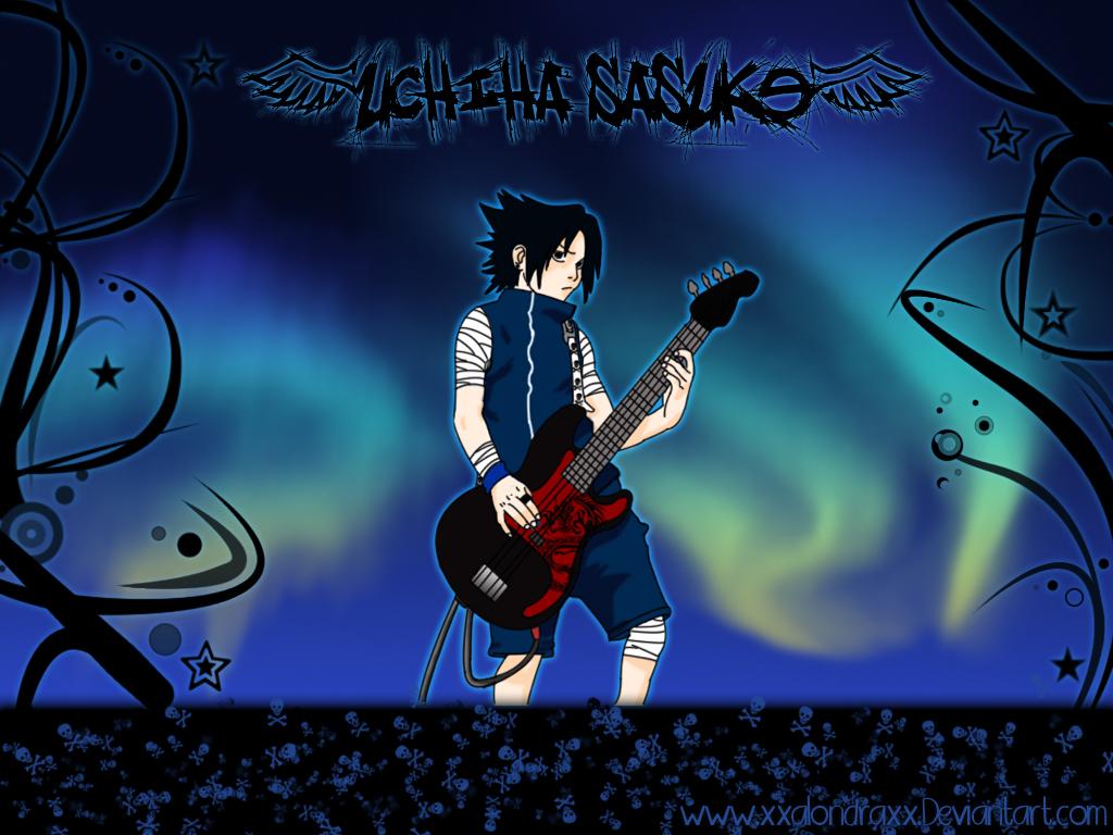 Sasuke Uchiha a Rock Star by XxAlOnDrAxX
