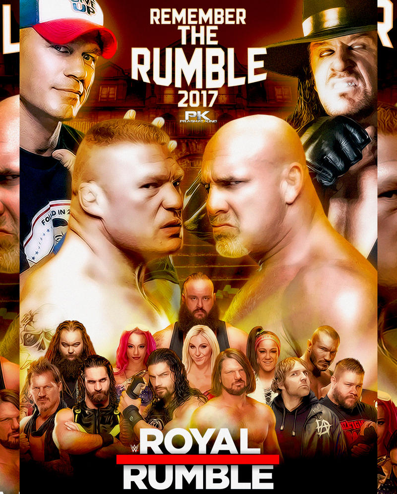 WWE Royal Rumble 2017 Poster by PrabhatKing01