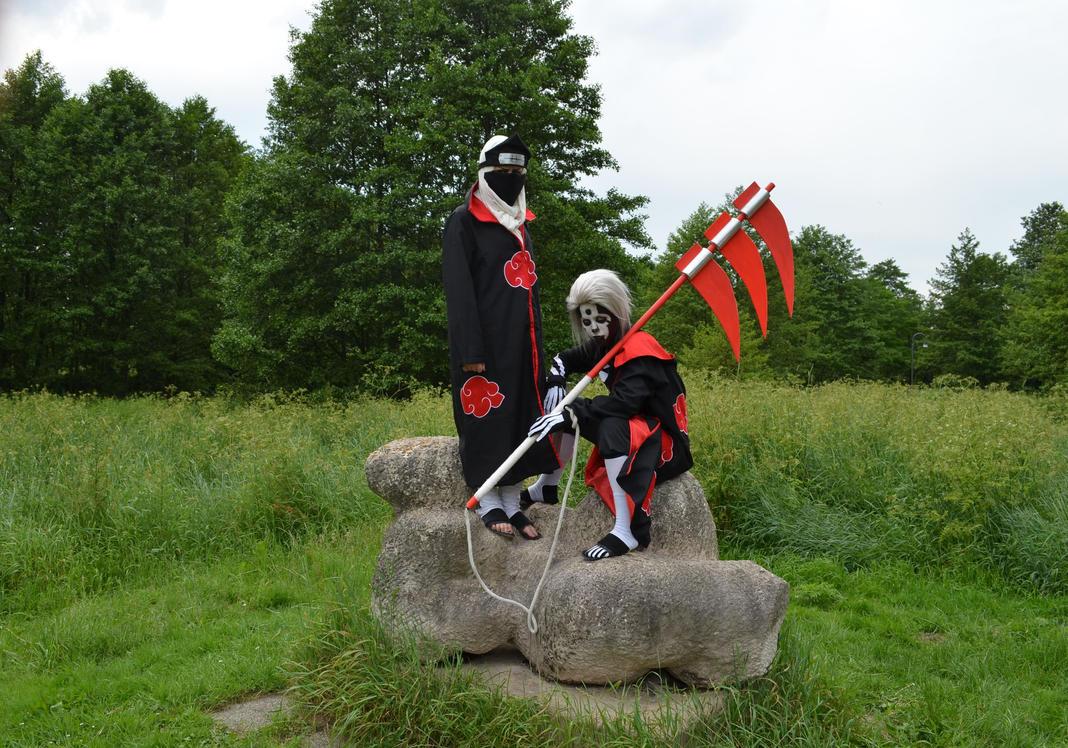 Hidan and Kakuzu cosplay by Naarachen