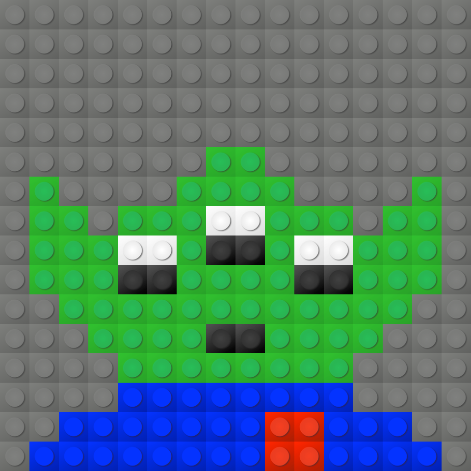 Toy Story Alien Lego Mosaic By Docdrew04