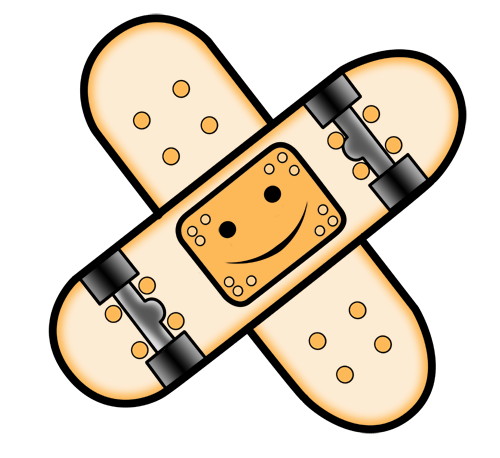 Skate band aid by henganskater