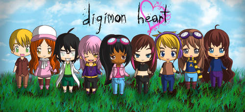 Chibis of Digimon Heart by RedViolentLove