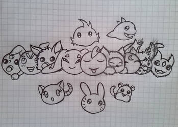 Just a bunch of adorable babies by RedViolentLove