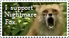 Nightmare Fox Stamp by VVraith