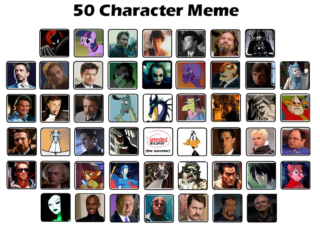 50 Character Meme by VVraith