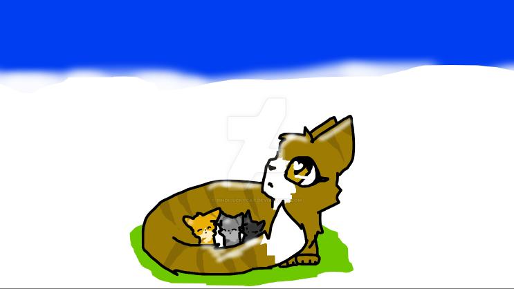 Leafpool, Jaykit, Hollykit, and Lionkit by Bindiluckycat