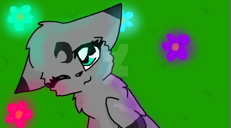 Cute Cat Drawing by Bindiluckycat