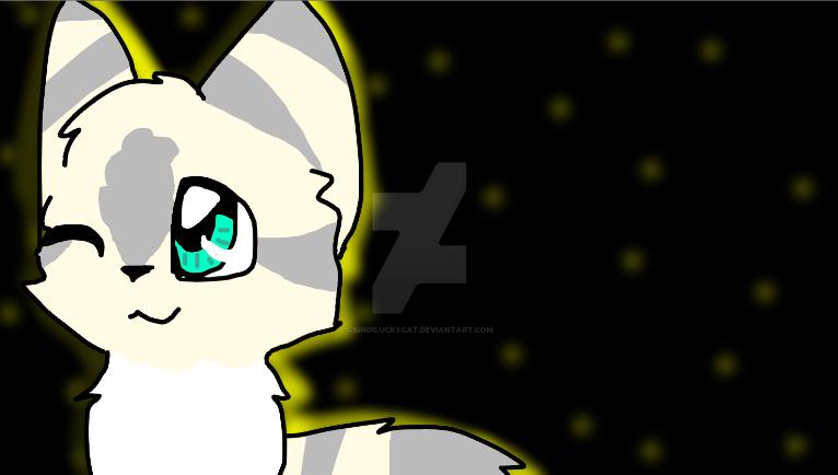 Cat in the stary night! by Bindiluckycat