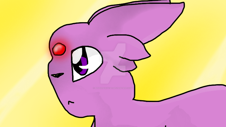 Espeon by Bindiluckycat