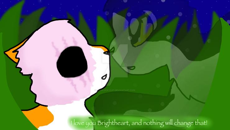 Brightheart and Swiftpaw by Bindiluckycat