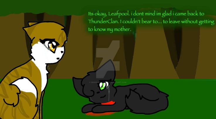 Hollyleaf's death by Bindiluckycat