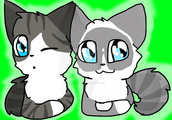 My kitties! by Bindiluckycat