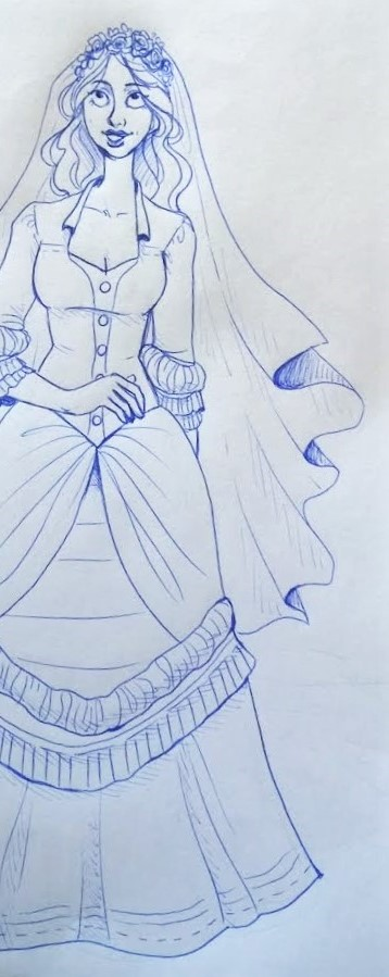 Corpse Bride dress redesign by silverwing66