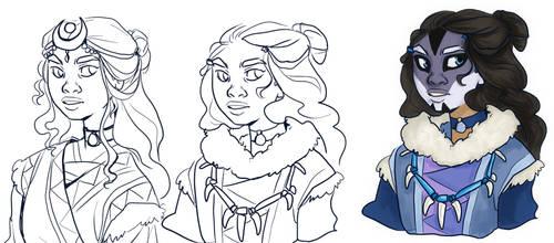 Katara - warrior princess concepts by silverwing66