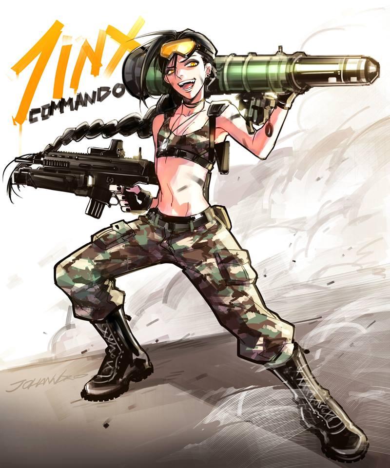 Commando Jinx skin by witchakorn