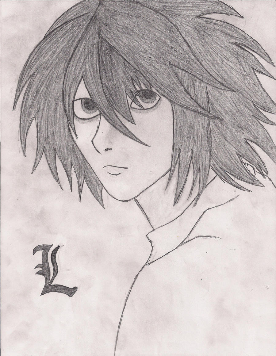 how to draw l lawliet