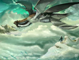 Elder Dragon of the Endless Sky by JBergen1910