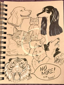 Lilly-Lamb Sketchbook 2018 Part 30