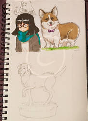 Lilly-Lamb 2019 Sketchbook Part 1