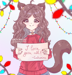 .: Merry Christmas from Cat :. by Ricuu