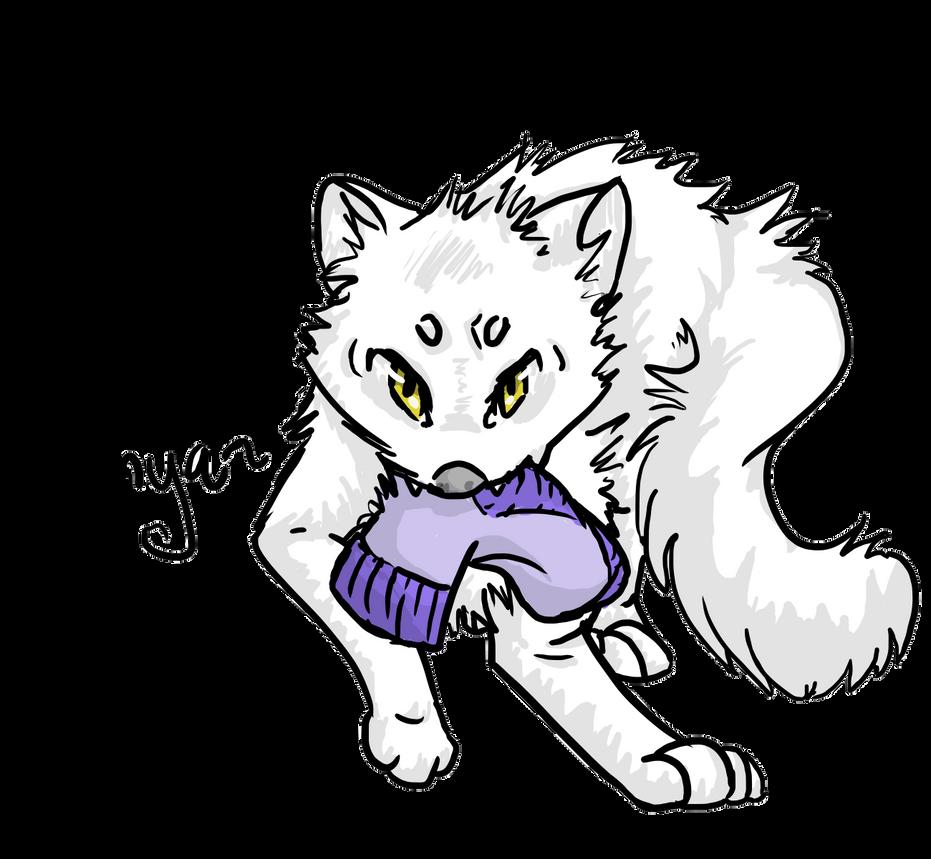 Arctic Fox Art Trade by Hawk-Z-Shadow