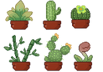 Pixel plants by Alkiton