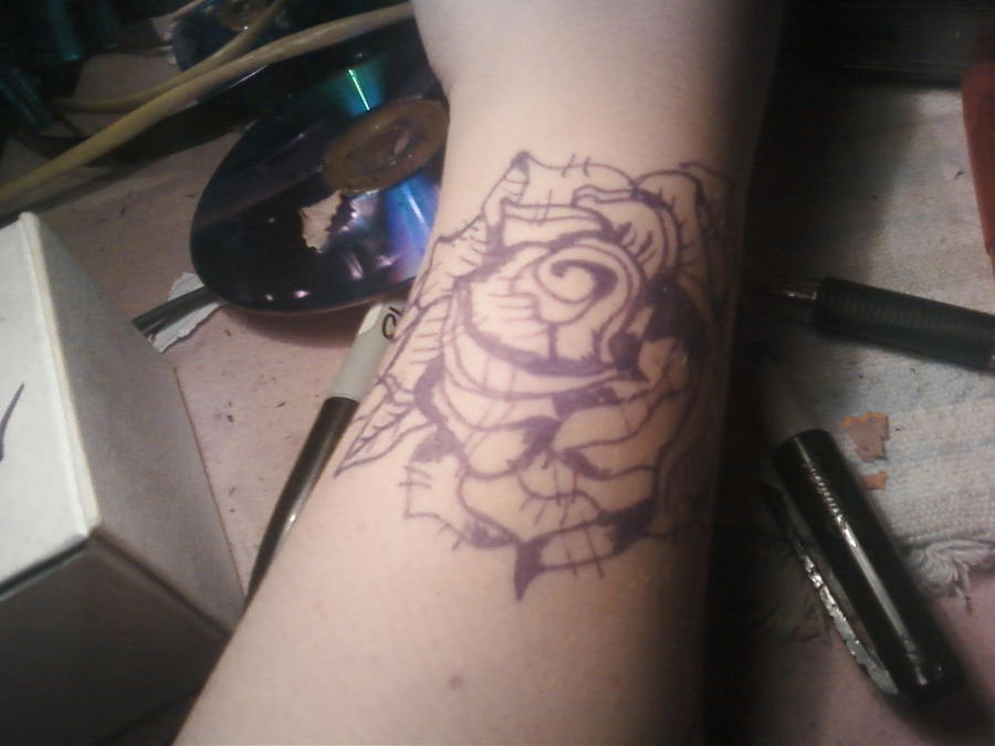 Black and white rose tattoo by macy mouse on deviantart for White rose tattoo