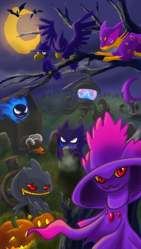 Pokemon Halloween by Robo-Shark on DeviantArt