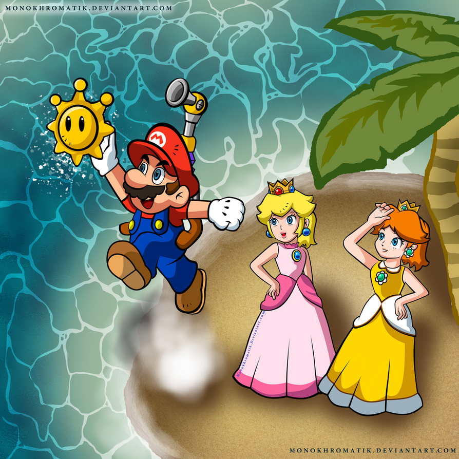 Super Mario Sunshine : Catching The Sun by MonoKhromatik