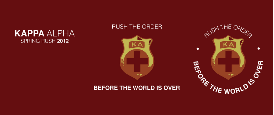 KA Spring 2012 Rush Shirt Design 2 by Phyco7625