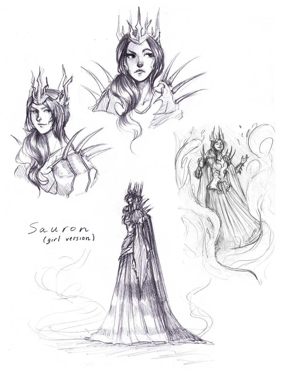 Lady Sauron. by Vicky-Pandora