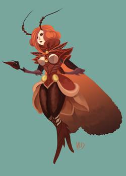 Insectgirl design.