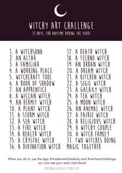 Witchy Art Challenge - Inktober 2016!