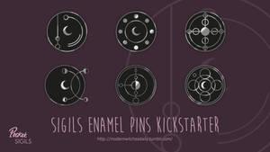 Pocket Sigils - Sigil Enamel Pins on KICKSTARTER