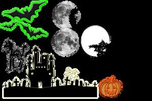 Halloween Scrapbook Kit by daftopia