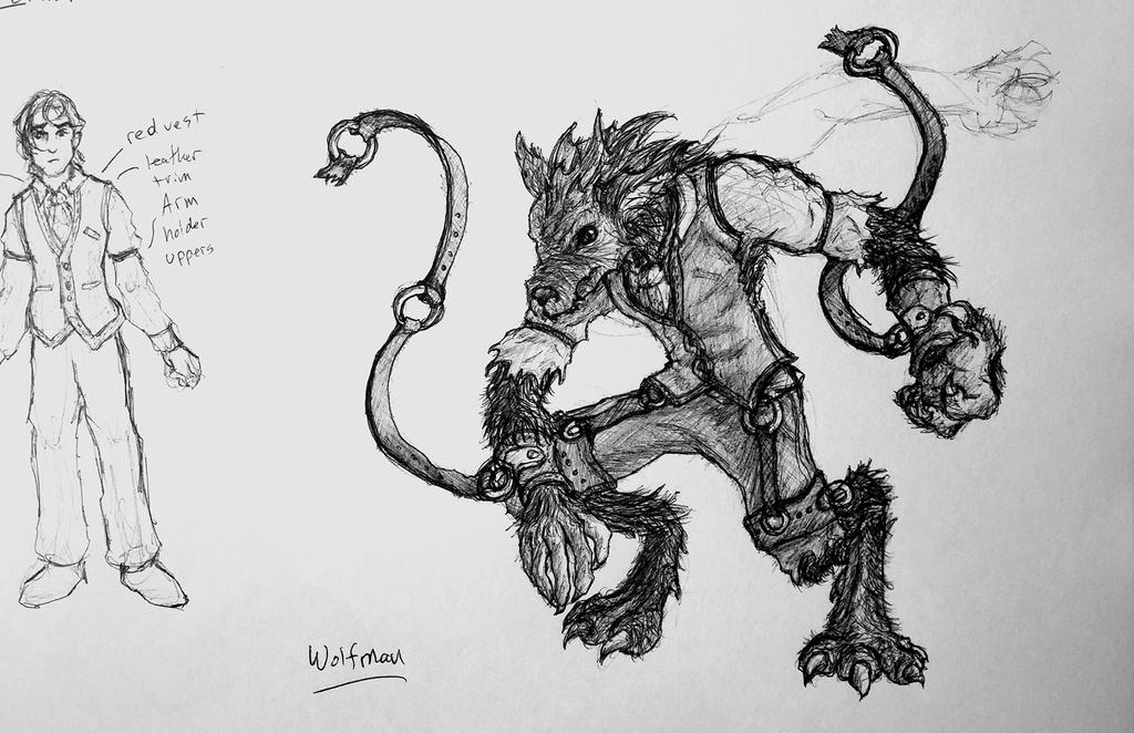 D Line Drawing Game : Game concept art: legendaries brawl wolfman by optimumplaid on