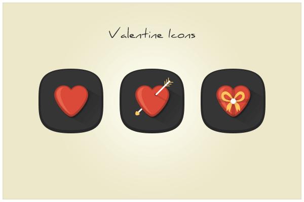 83 Valentine Icons (freebie by pixelcave)