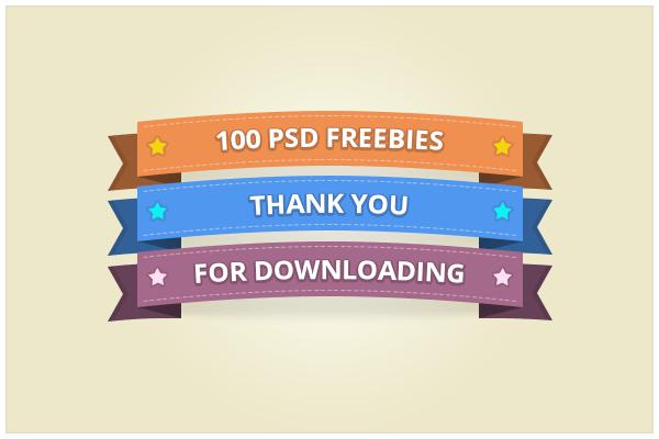 100 Ribbon (freebie by pixelcave) by pixelcave