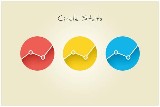 143 Circle Stats (freebie by pixelcave)