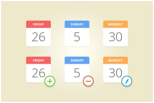 145 Calendar Icons (freebie by pixelcave)