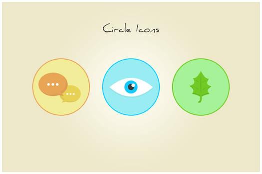 147 Circle Icons (freebie by pixelcave)
