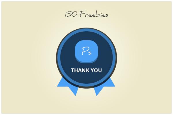 150 Badge (freebie by pixelcave) by pixelcave
