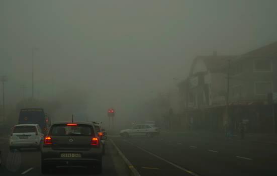 Fog in Koeberg Road