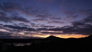 Sunset over Hangklip