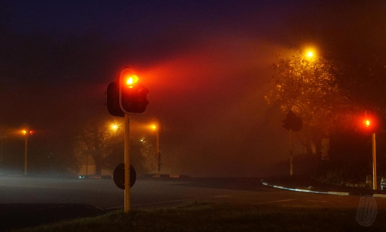 Misty Traffic Lights